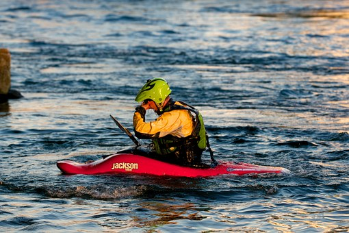 Kayak, White Water, Water Sports, Helm
