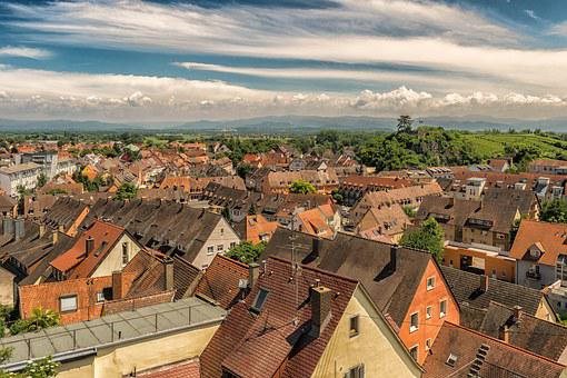 Roofs, Homes, City, Old Town, About, Breisach, Building