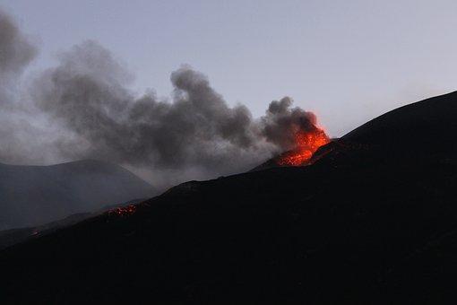 Eruption, Etna, Explosion, Volcano, Italy