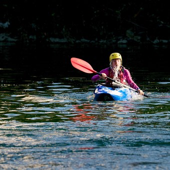 Kayak, White Water, Water Sports, Paddle, Helm