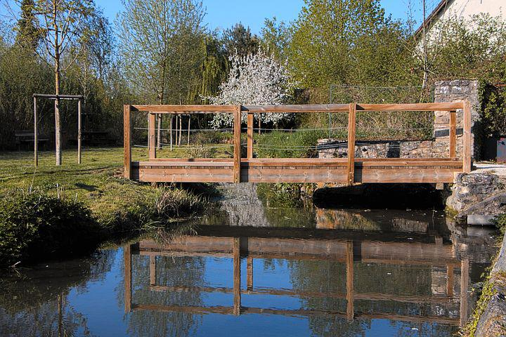 Bridge, Wood, River, Tree, Passage, Wooden Bridge