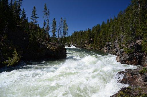 River, Upper Falls, Yellowstone, Wyoming, Whitewater