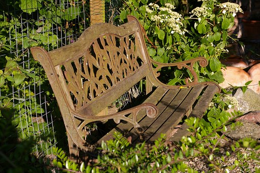 Garden Bench, Old Bench, Nature, Bank, Bench, Seat