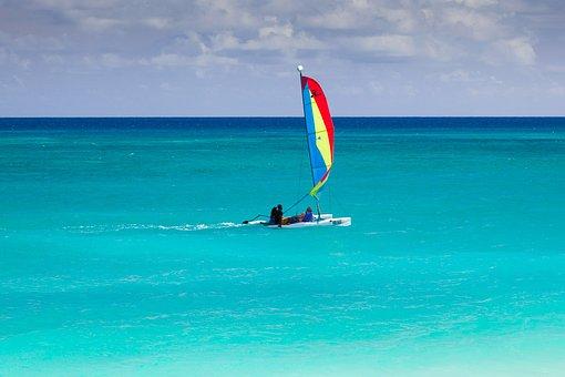 Blue, Boat, Caribbean, Catamaran, Colorful, Freedom