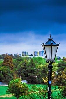 Lublin, Lubelskie, Poland, Lantern, Landscape, City