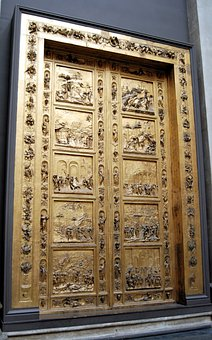 Doors, Closed, Paneled, Carved, Architectural