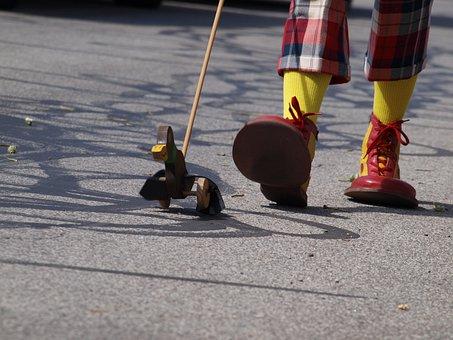 Clown, Clown Shoes, Duck, Circus, Shoes, Carnival