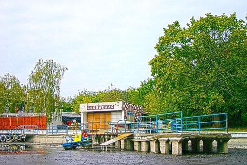 Jetty, Boats, Platform, Water, Debrecen, Hungary