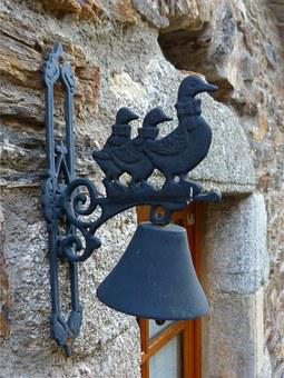Entry Bell, Object, Decorating Outside, Iron, Metal