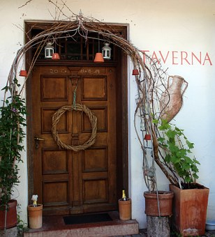Door, Entrance Door, Wooden Door, Outline, Deco