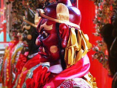 Temple, God, Taiwan, China Wind, Clairvoyance, Fair