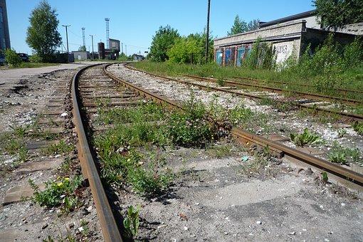 Fallow Land, Gleise, Rails, Railway, Railroad Tracks