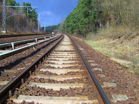 Rail Track, Rails, Gleise, Track Bed, Gravel