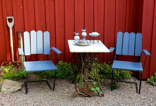 Patio, Garden Furniture, Table, Chairs