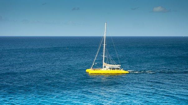 Catamaran, Sea, Sail, Sky, Water Sports, Sailing, Ship