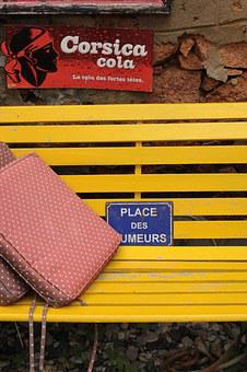 Smoking, Corsica, Bank, Yellow, Pillow, Place