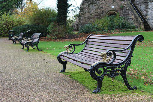 Bench, Park, Castle, Park Bench, Grass, Green, Tree