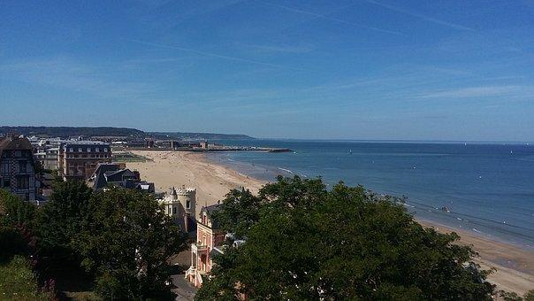 Trouville-sur-mer, Commune, In France, Sea, Ocean