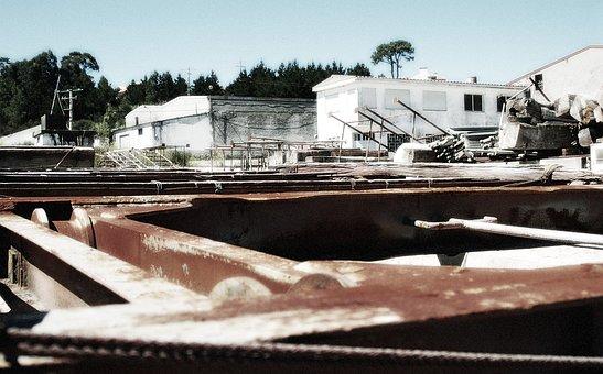 Galicia, Miño, Shipyard, Abandoned, Abandonment
