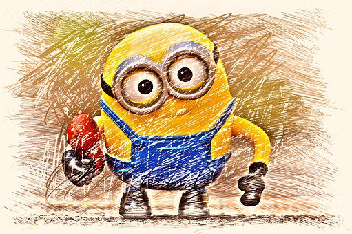Minion, Yellow, Funny, Fig, Drawing, Colorful, Children