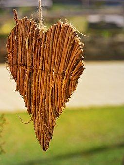 Heart, Wooden Heart, Dekoherz, Love Symbol