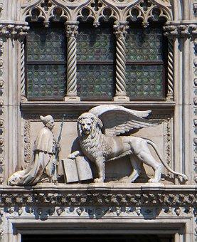 Venice, San Marco, Lion, Doge, Coat Of Arms