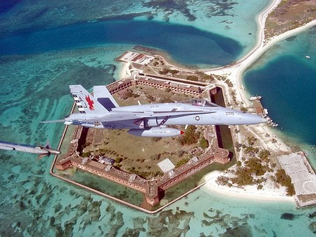 Fort Jefferson, Florida, F A-18, Jet, Fighter