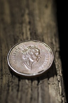 Coin, Gbp, Currency, Foreign, Wood Grain
