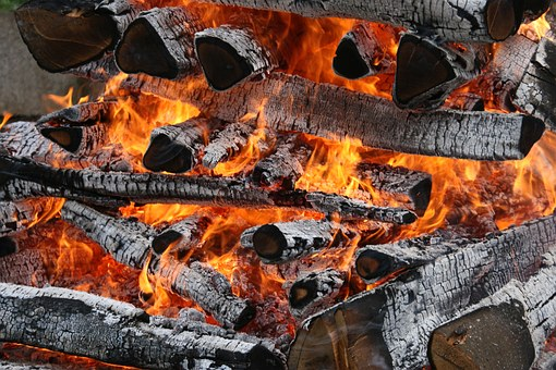 Fire, Flames, Burning, Wood, Hot, Heat, Red, Yellow