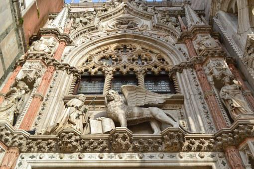 Doge Palace, Venice, Italy, Palace, Venetian, Lion