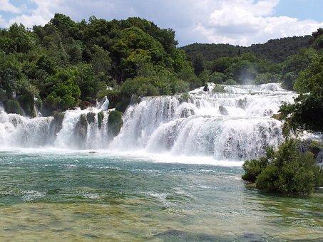 Falls, Krk, Croatia, National Park, Dalmatia