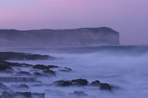Sea, Javea, Temporary, Water, Cape, Lighthouse, Night