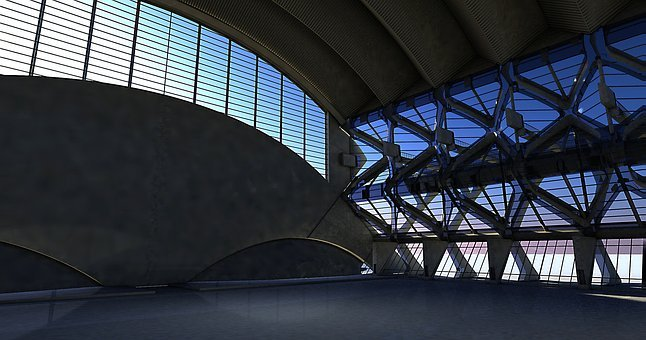 Hall, Stadium, Obscure, Space, Presentation, Blank