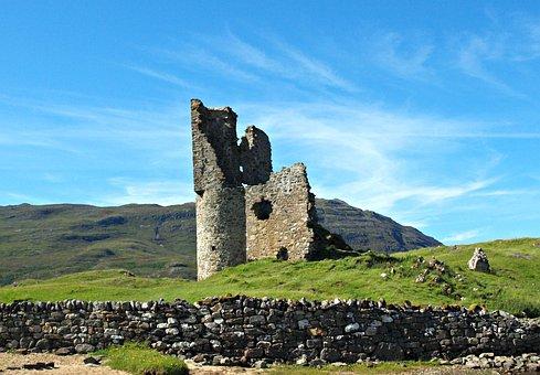 Ardvreck Castle, Castle, Scotland, Ardvreck, Ancient