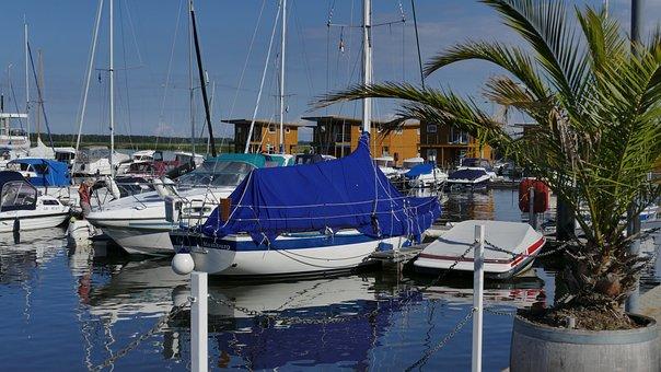 Port, Palm, Marina, Sea, Holiday, Ship, Water, Boot