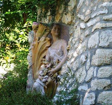 Statue, Female Figure, Zsolnay Cultural Quarter, Pecs