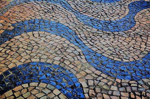 Sidewalk, Floor, Ground, Stone, Portuguese Stone