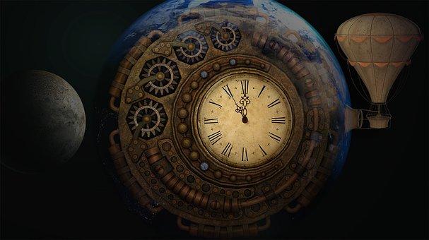 Escape, Earth, Balloon, Time, Moondial, Time Machine
