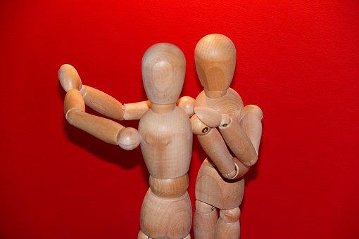 Dance, Articulated Male, Waltz, Wood Dolls