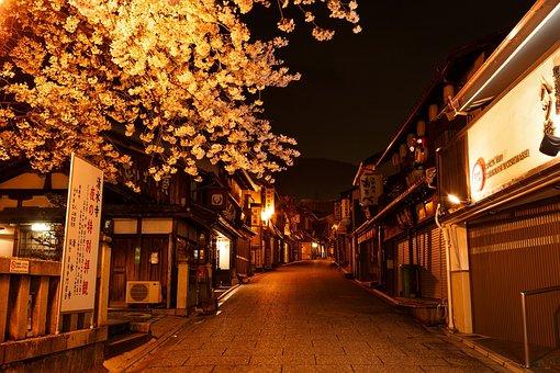 Street, Japan, City, Asian, Travel, Scene, Night, Light