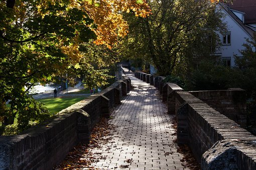 Old Town, City Wall, Autumn, Fall Foliage
