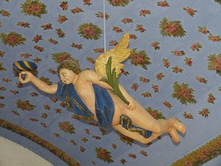 Angel, Church, Religion, Statue, Baroque, Fig