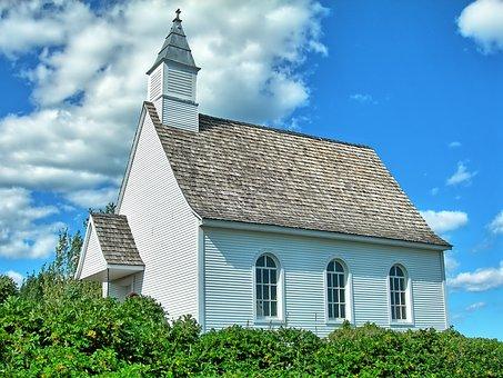 Church, Field, Bell Tower, Worship, Peak-to-parsley
