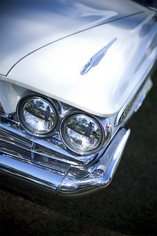 Head Lamp, Head Light, Headlight, Car, Vintage Car