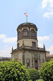 Castle, Chapultepec, Park, Trees, Family, Family Outing