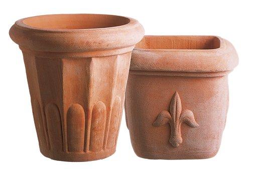 Terracotta, Pots, Flower Pots, Fired Clay, Unglazed