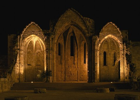 Gothic, Gothic Church, Archway, Pointed Arches, Castle