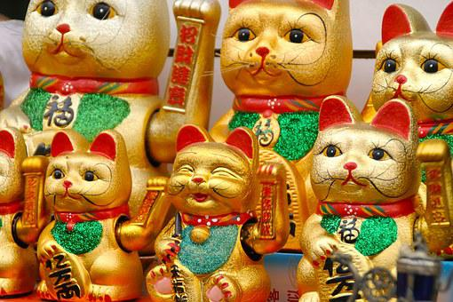 Wave, Cat, Deco, Lucky Charm, Japanese, Waving Cat, Fig