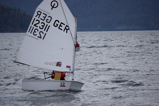 Vela, Lake, Italy, Sailing School, Boat