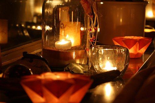 Lights, Candles, Advent, Autumn Mood, Warm, Cozy